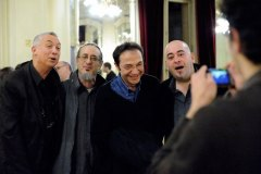 With Jean-Pierre Debarbat, Glenn Ferris & Stéphane Belmondo - Académie du Jazz, Paris 2011 - Photo credit: Philippe Marchin