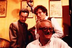 With Toots Thielemans & Riccardo Del Fra - Paris, mid-80s