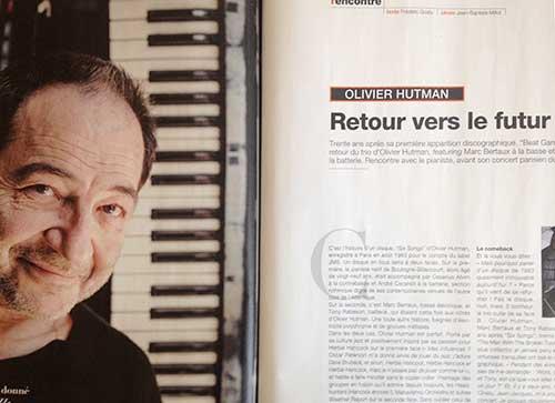 Olivier Hutman - Jazz Magazine